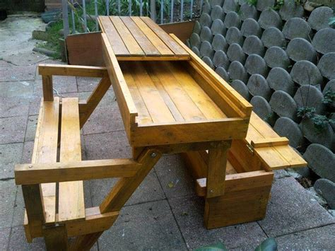 Folding Bench Table Diy